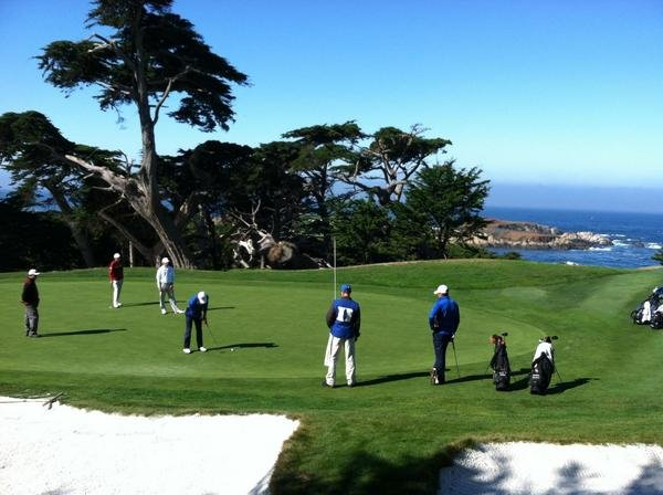 Duke men's golf got in some practice at Cypress Point before the start of the Stanford Classic.