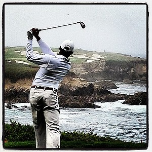 Texas senior Julio Vegas tees off at Cypress Point.