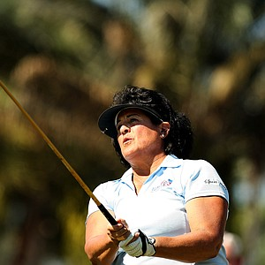 Nancy Lopez at No. 10 during the ISPS Handa Cup at Reunion Resort. Lopez amassed 48 wins on tour.