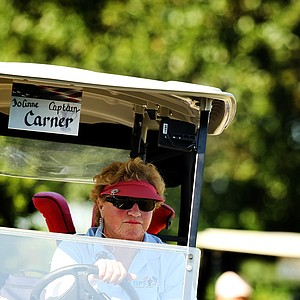 JoAnne Carner the captain of the U. S. team during the ISPS Handa Cup at Reunion Resort. Carner had 43 wins on the LPGA tour.