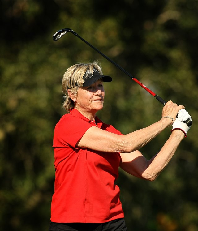 Sally Little of South Africa during the ISPS Handa Cup at Reunion Resort. Little had 15 LPGA wins in her career.