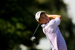Joshua Lee at the Golfweek East Coast Junior Invitational at Celebration Golf Club.