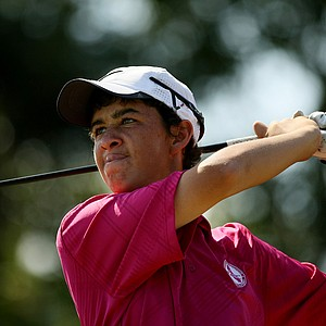 Corey Pereira at the Golfweek East Coast Junior Invitational at Celebration Golf Club.