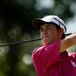 Corey Pereira at the Golfweek East Coast Junior Invitational at Celebration Golf Club.