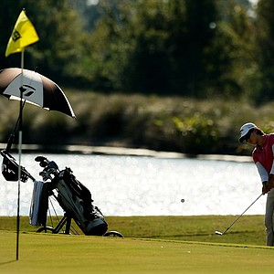Cindy Feng at No. 9 during the Golfweek East Coast Junior Invitational at Celebration Golf Club.