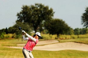 Cindy Feng at No. 9 at the Golfweek East Coast Junior Invitational at Celebration Golf Club.