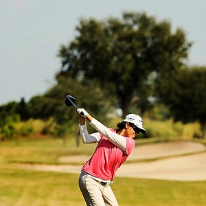 Cindy Feng at No. 9 at the Golfweek East Coast Junior Invitational at Celebration Golf Club.