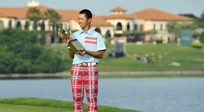 Tianlang Guan won the Asia-Pacific Amateur and earned an invitation to the Masters in April, where he will become the youngest player in the tournament's history at 14.