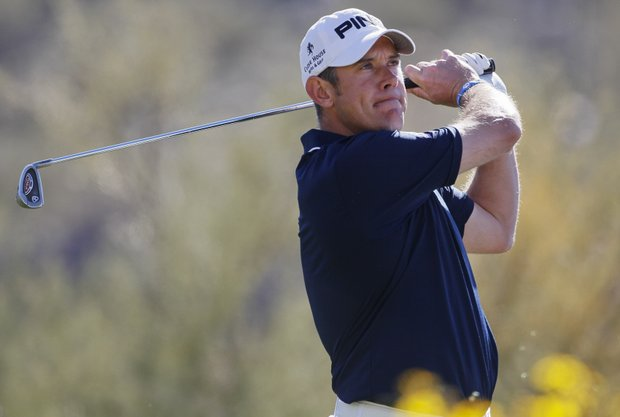 Lee Westwood during the Match Play Championship golf tournament, Sunday, Feb. 26, 2012, in Marana, Ariz.