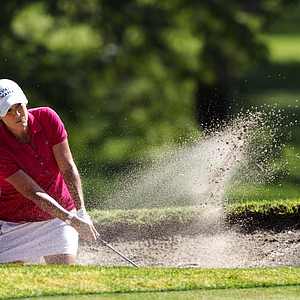 U.S. Cristie Kerr hits from a bunker on the 3th hole during the fourth day of the LPGA Lorena Ochoa Invitational at the Guadalajara Country Club in Guadalajara, Mexico, Sunday, Nov. 11, 2012.