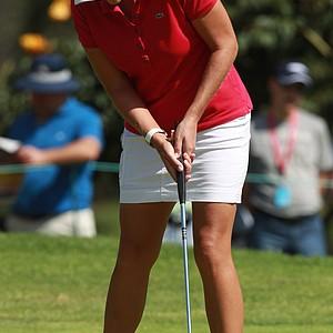 U.S. Cristie Kerr putts on the 5th hole during the fourth day of the LPGA Lorena Ochoa Invitational at the Guadalajara Country Club in Guadalajara, Mexico, Sunday, Nov. 11, 2012.
