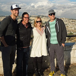 On the Arn and Nancy Tellem Mission to Israel: (from left) Chris Armstrong, Wasserman Media Group; Sean Foley; Kandi Mahan and Hunter Mahan.