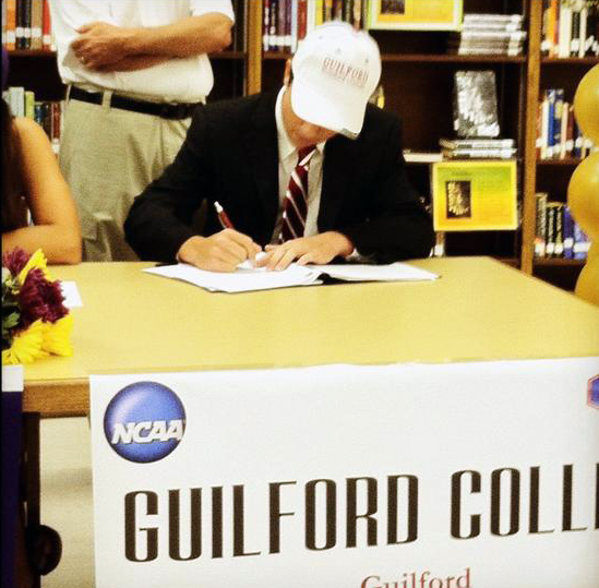 Brad White signs with Guilford College