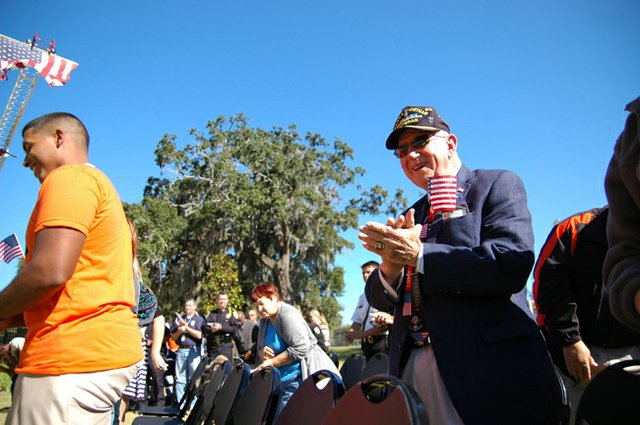 Retired Lt. Col. Earle Denton at Winter Park's Veterans Day celebration Nov. 9.