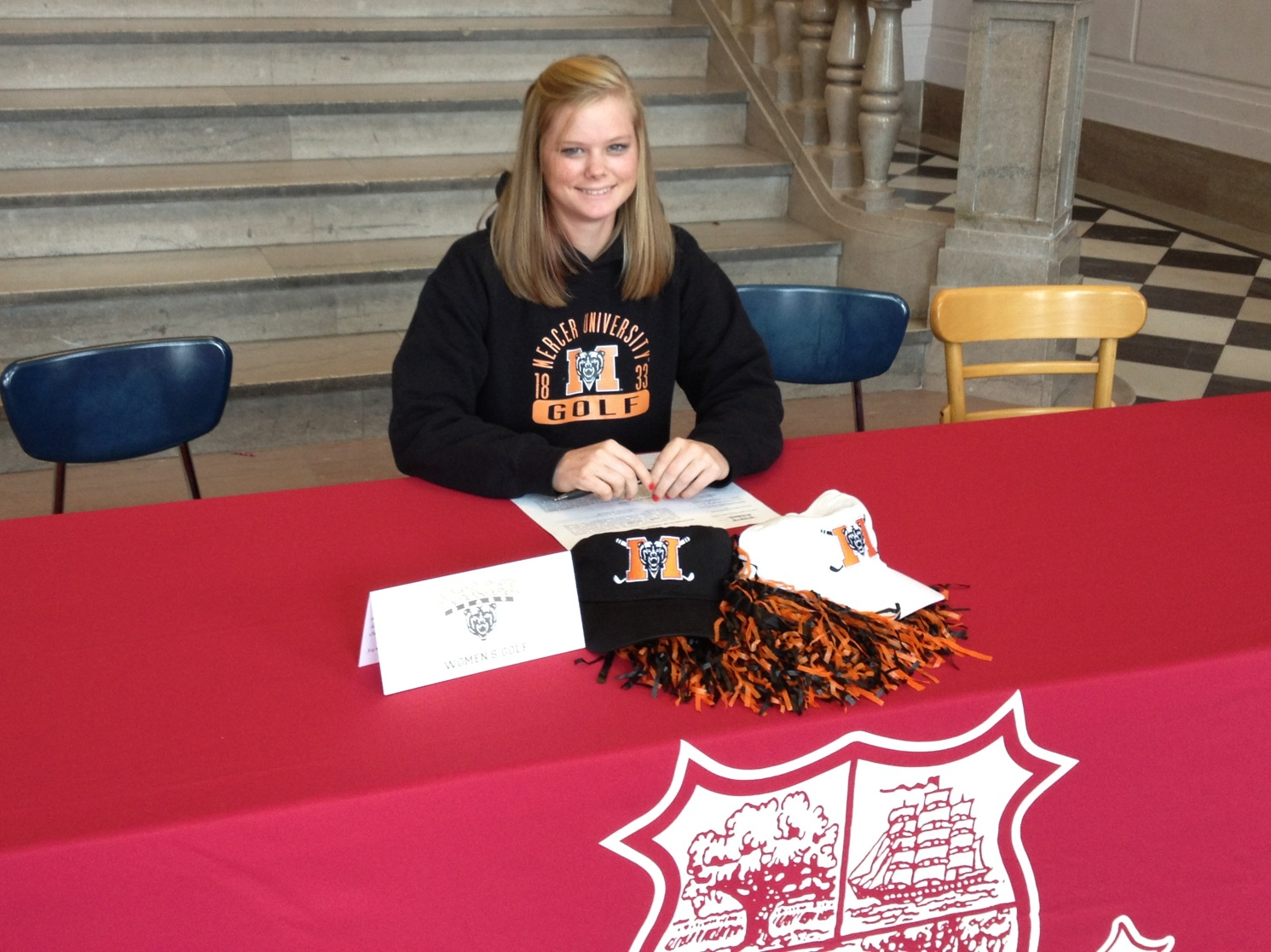 Katy Harris signs with Mercer