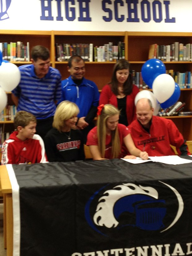 Emily Kurey signs with Louisville