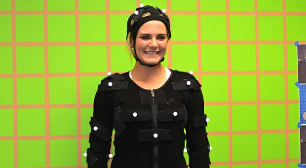 Lexi Thompson prepares for her motion-capture session with EA Sports as part of the building of the new Tiger Woods PGA Tour '14 game, set for release in March.