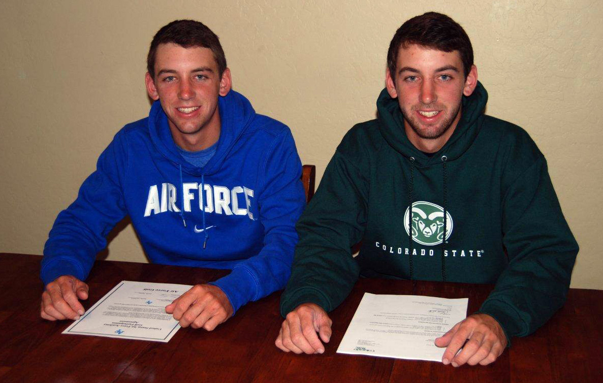 Twins Brenden Bone, left, and Alec Bone sign with Air Force and Colorado State, respectively