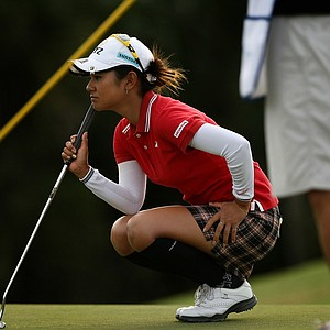 Ai Miyazato during the final round of the CME Group Titleholders at Twin Eagles Club. Miyazato finished in fifth.