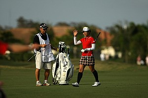Ai Miyazato during the final round of the CME Group Titleholders at Twin Eagles Club.