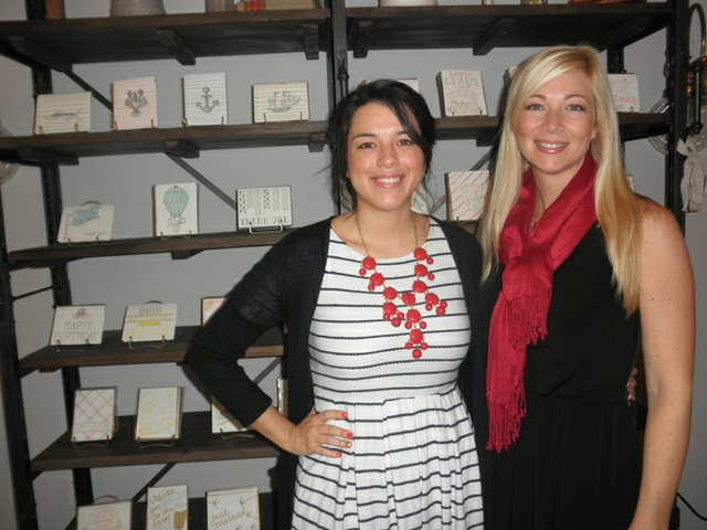 9th Letter Press founders Isabel Ibanez and Sheli Scarborough.