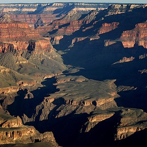A view of the Grand Canyon National Park in Arizona from the Mather Point and Visitor's Center.