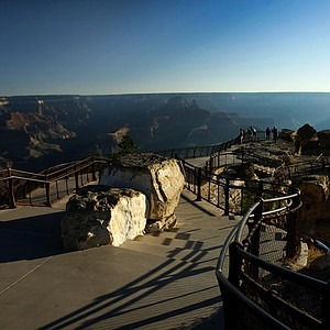 An early morning view of the Grand Canyon National Park in Arizona from the Visitor's Center.