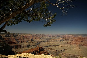 A view of the Grand Canyon National Park in Arizona from the South Rim near Hermit's Rest.