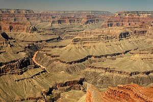 A view of the Grand Canyon National Park in Arizon and the Colorado River from Mojave Point.