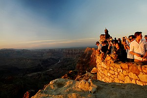 Sunset from the Watch Tower at Desert View in the Grand Canyon National Park in Arizona.