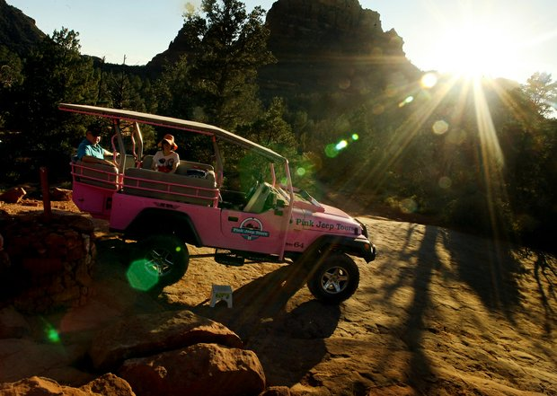 The famous Red Rocks in the Coconino National Forest in Sedona, AZ via the Pink Jeep Tour.