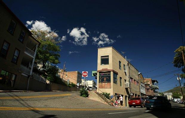 The town center of Jerome near Sedona, AZ