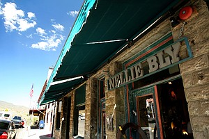 The front of Nellie Bly, which claims to be the largest Kaleidoscope store in Jerome, AZ near Sedona, AZ.