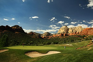 A view of Hole No. 4 at Seven Canyons in Sedona, AZ.