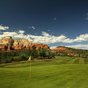 Hole No. 2 at Seven Canyons in Sedona, AZ.