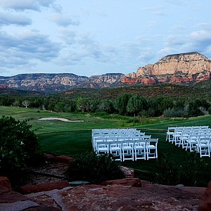 The practice range at Seven Canyons in Sedona, AZ.