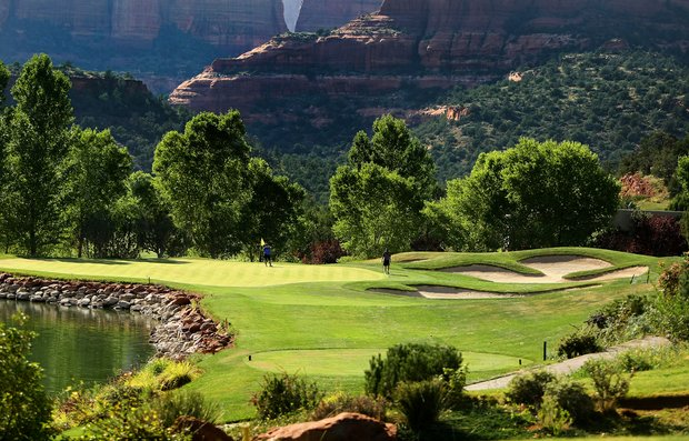 Hole No. 7 at Seven Canyons in Sedona, AZ.