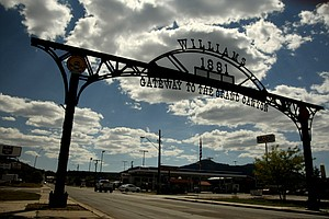 The town of Williams on Route 66 in Arizona.