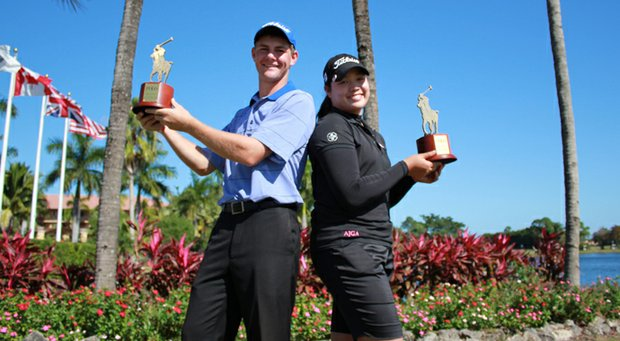 Adam Wood, left, and Ariya Jutanugarn won the 2012 Polo Golf Junior Classic titles on Friday in Palm Beach Gardens, Fla.