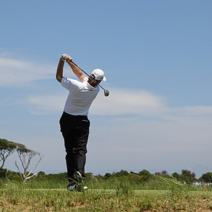 Ernie Els of South Africa hits from the fourth tee during the first round of the PGA Championship golf tournament on the Ocean Course of the Kiawah Island Golf Resort in Kiawah Island, S.C., Thursday, Aug. 9, 2012.