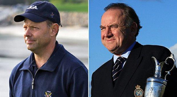 USGA executive director Mike Davis (left) and R&A chief Peter Dawson.