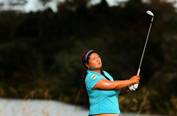 Christina Kim on Tuesday of LPGA Q-School at LPGA International.