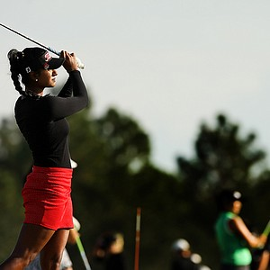 Seema Sadekar on the range on Tuesday of LPGA Q-School at LPGA International.