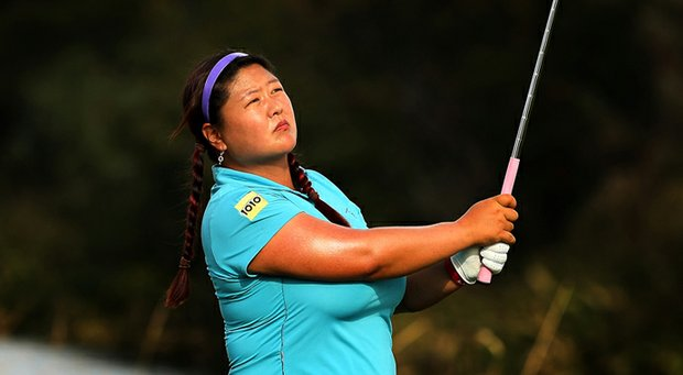 Christina Kim during a practice round for LPGA Q-School.