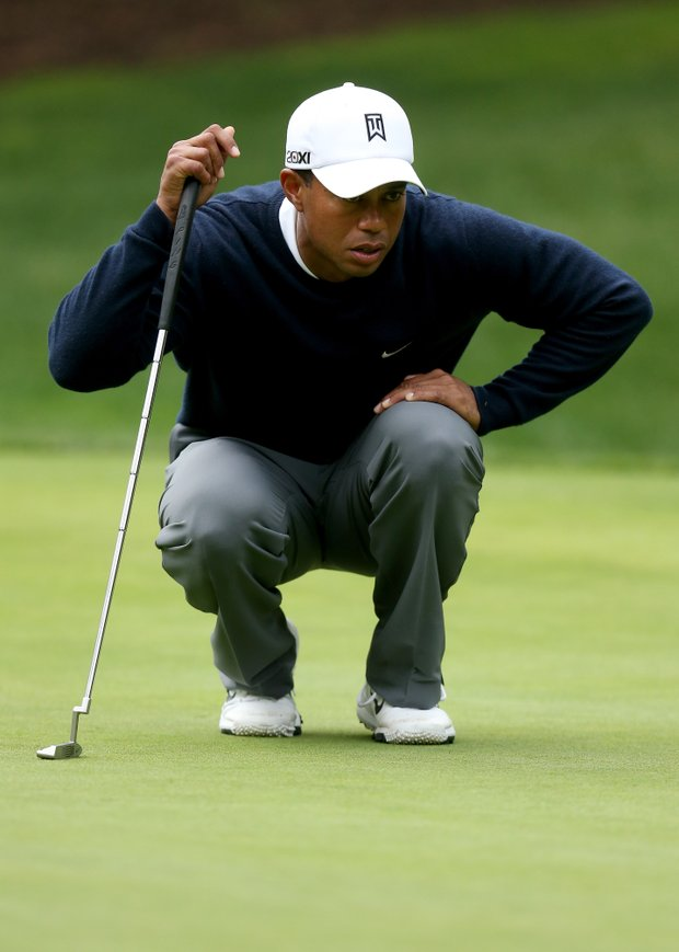 Tiger Woods is playing with Bo Van Pelt on Friday at the Tiger Woods World Challenge in Thousand Oaks, Calif.