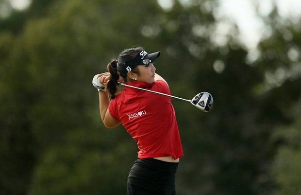 Michelle Shin on Champions course during Friday of LPGA Q-School. Shin posted a 75 on Friday.