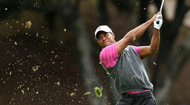 Tiger Woods will play with Rickie Fowler on Saturday.