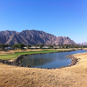 The 439-yard, par-4 18th hole at PGA West's Stadium Course.