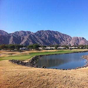 The 439-yard, par-4 18th hole at PGA West's Stadium Course.