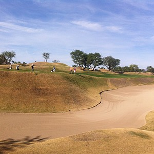 A deep bunker at the par-5 16th hole at PGA West's Stadium Course.